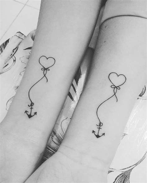 Delicate Heart Anchor Tattoos - Mother Daughter Heart Tattoos - Mother Daughter - MomCanvas