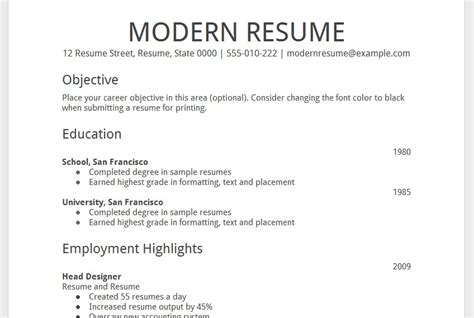gogle docs resume cv template resume exles planner template free