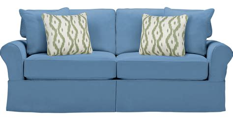 beachside blue sleeper sofa casual cotton