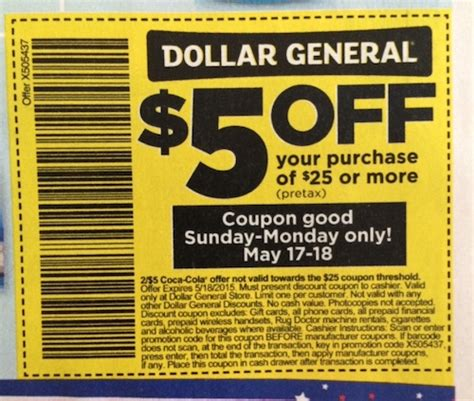 dollar general store coupon