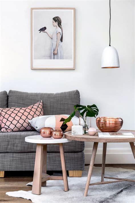 Best 25  Blush grey copper living room ideas on Pinterest   Bedroom color schemes, Copper decor