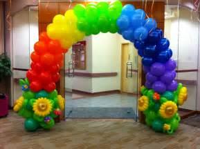 Rainbow Balloon Arches