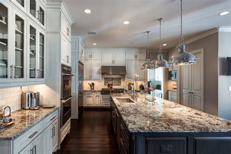 alaska white granite with white cabinets make your elegant kitchen with alaska white granite