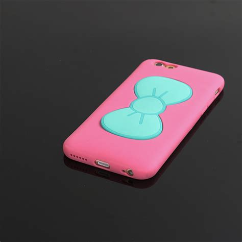 silicone phone silicone bowknot mobile phone holder for iphone