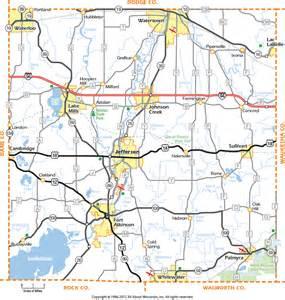 Jefferson County Wisconsin Map