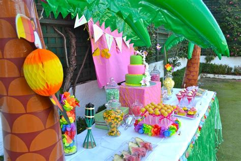 hawaiian luau birthday party ideas photo    catch