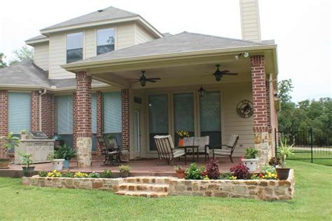 Covered Patio Archadeck Fort Worth Utilizes Hip Roof
