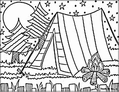 Camping Coloring Pages Printable Colouring Sheets Summer