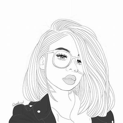 Sketches Hipster Coloring Pages Drawing Outline Cool
