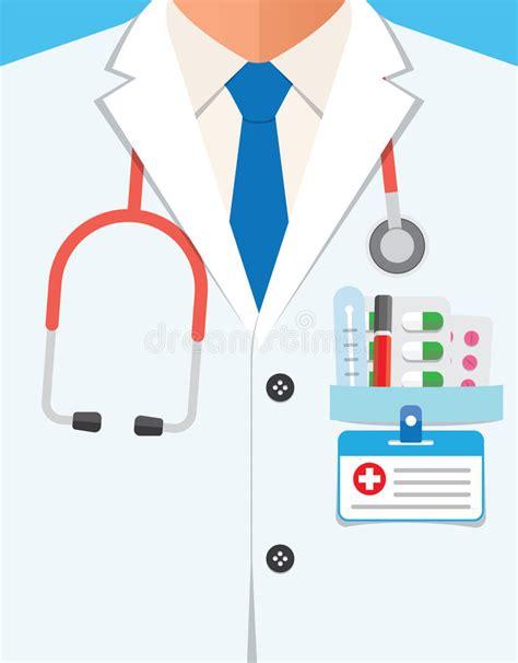 Doctor In Lab Coat Close Up Stock Illustration - Illustration of doctor nurse 60432341