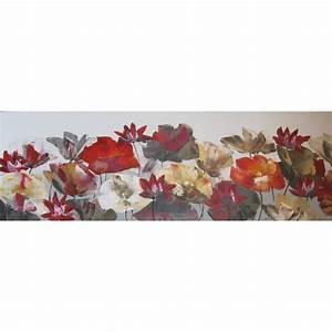 Decoration Murale Tableau : tableau d coration murale fleurs de lotus 150x50 cm horizontal ~ Teatrodelosmanantiales.com Idées de Décoration