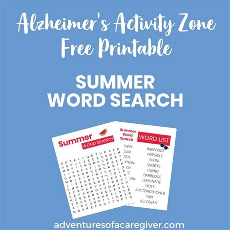 Check spelling or type a new query. Easy Word Searches Perfect for Dementia Patients! in 2020 | Easy word search, Summer words ...