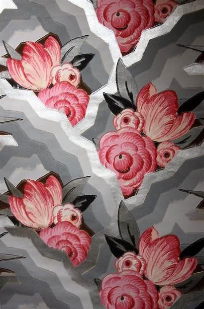 Deco 1930s Pattern 1930 Flowers Wallpapers Peint
