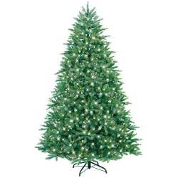 ge holiday ornaments decor 7 5 ft just cut fraser fir ez light artificial christmas tree with