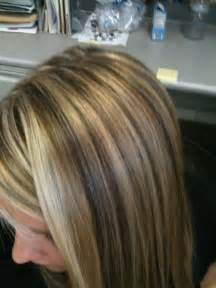 White Brown Hair with Blonde Highlights