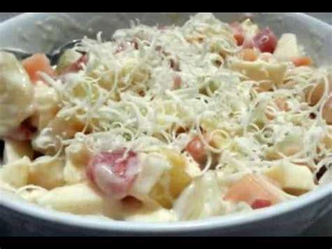 resep  membuat salad buah keju mayonise vla creamy youtube