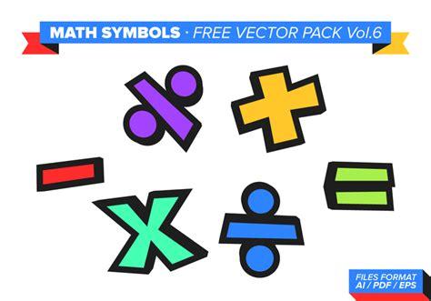 Math Symbols Free Vector Pack Vol 6 Download Free