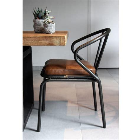 chaise metal vintage chaise vintage métal simili cuir waldorf par drawer fr