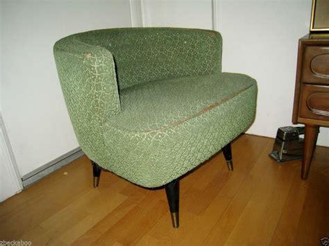 mid century modern chair vintage kroehler barrel swivel