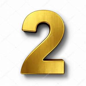 The number 2 in gold — Stock Photo © zentilia #8292993  2