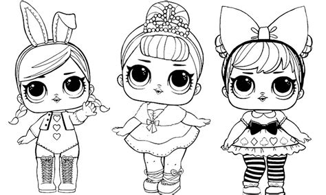 lol dolls coloring pages babies  worksheets