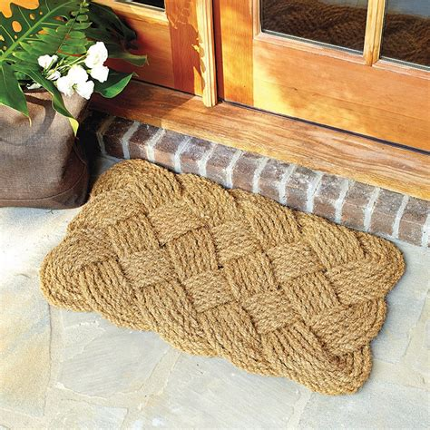 braided coir doormat braided knot door mat ballard designs