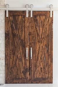 bi parting double sliding barn door hardware kit rustica With bi parting barn door kit