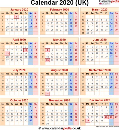 calendar uk printable year calendar