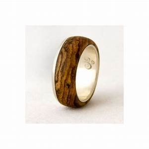 silver ring with wood mens wedding band with bocote men With mens wood wedding ring
