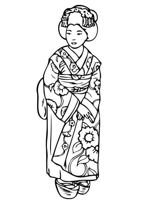 dibujo  colorear geisha img  images