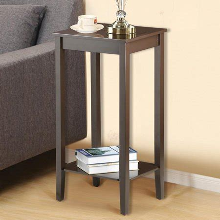 yaheetech tall side coffee  table solid wood nightstand