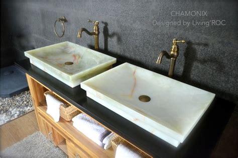 Chamonix White Onyx Bathroom Vessel Sink-craftsman