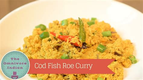 fish eggs roe cod curry indian recipe
