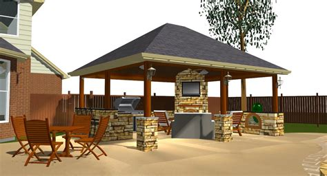 Covered Patio With Fireplace  Austin Detached Covered