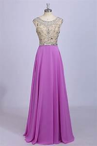 Light Purple Prom Dresses, Long Hot Chiffon Floor Length ...