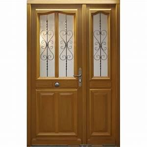 Porte d39entree vitree cahors en bois tous les produits for Porte d entrée en bois vitrée