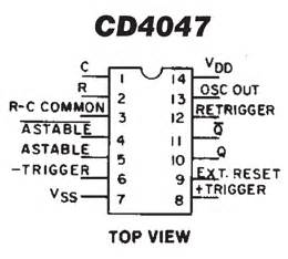 cd4047 datasheet download With figure 1 the simple astable multivibrator circuit using cd4047 cmos ic