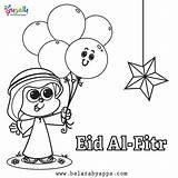 Eid Mubarak Coloring Printable Happy Belarabyapps Cards Fitr Ramadan sketch template
