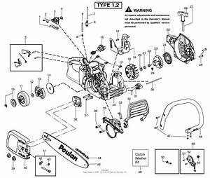 Poulan P3314 Fuel Line Diagram