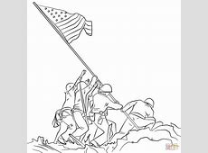 soldiers putting flag up drawing clipart Clipground