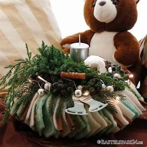 Weihnachtskranz Selber Machen : adventsgesteck adventskranz selber machen sehr ausgefallen mit wollb ~ Markanthonyermac.com Haus und Dekorationen