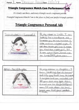 geometry task project triangle congruence personal ad