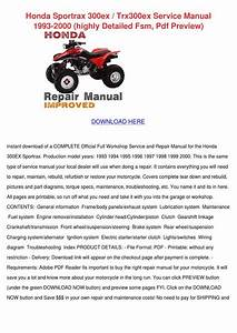 Honda Sportrax 300ex Trx300ex Service Manual By