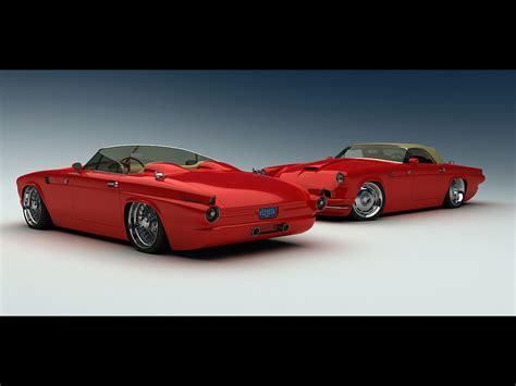 1955 Ford Thunderbird Custom From Vizualtech Duo Red