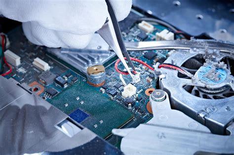 Notebook Repair Printed Circuit Board Stock Photo Image