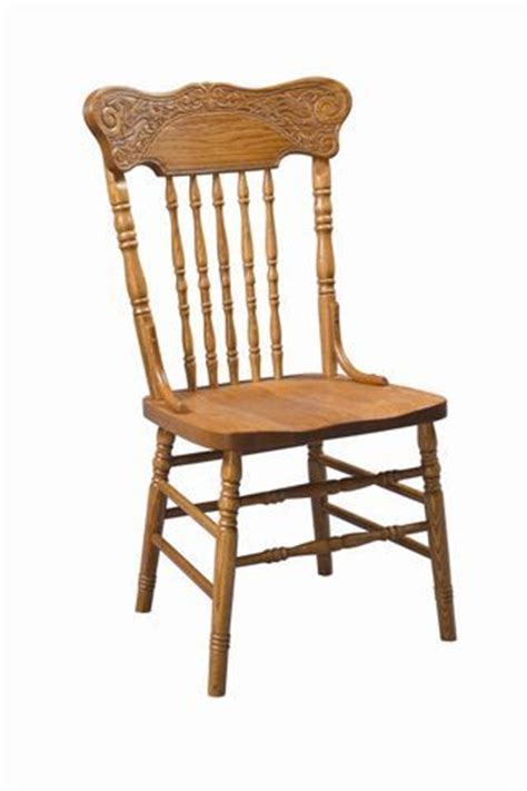 amish meadow press back dining chair