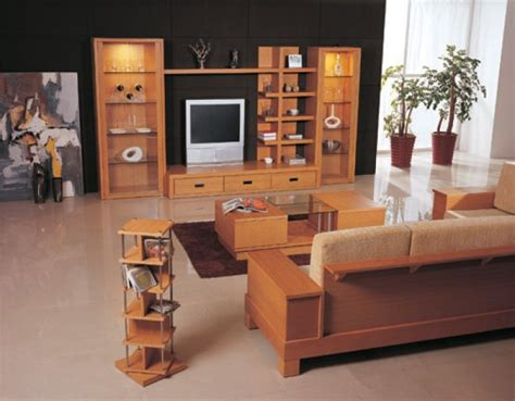 wooden furniture design  living room  india