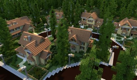 Minecraft Moderne Häuser Map by Greenville Idyllic For Map Schematics
