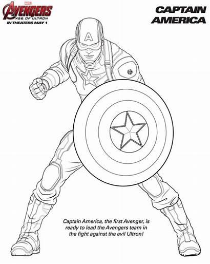 Avengers Marvel Coloring Pages Age Printable Avenger