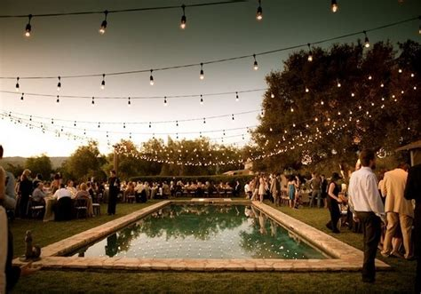 string lights pool string lighting in outdoor decor outdoortheme